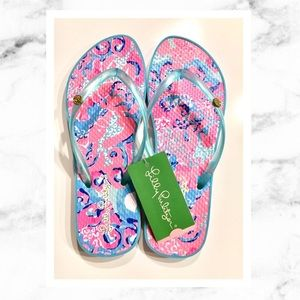 Lilly Pulitzer Pool Flip Flop Size 7/8